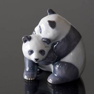 Panda's playing and fighting happily, Royal Copenhagen figurine