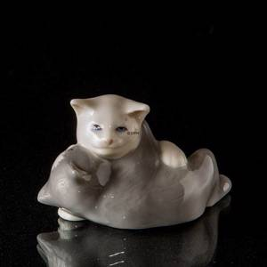 Hannibal and Hager, cats, Royal Copenhagen figurine
