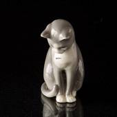 Princess Cat Looking at its tail, Royal Copenhagen figurine