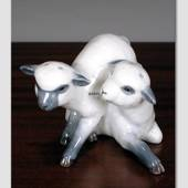 Two lambs playing, Royal Copenhagen figurine