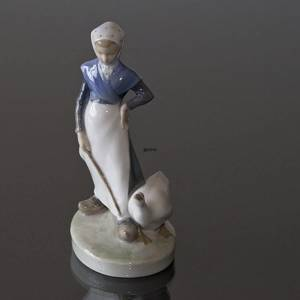 Little girl with geese walking along, Royal Copenhagen figurine no. 528