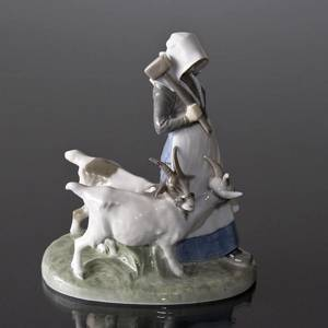 Girl walking with Goats and Hammer, Royal Copenhagen figurine no. 694