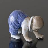 Crawling child learning to stand, Royal Copenhagen figurine no. 1518
