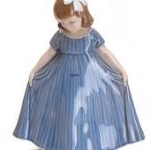 """Dancer"", Girl with Blue Dress, Royal Copenhagen figurine no. 2444"