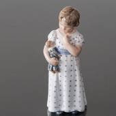 Girl with Doll on her Arm, Royal Copenhagen figurine no. 3539