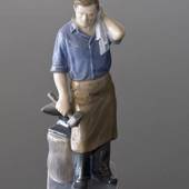 Blacksmith a hard days work, Royal Copenhagen figurine no. 4502