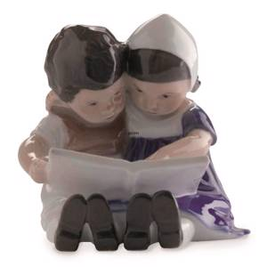 Reading children, Interesting facts, Bing & Grondahl figurine no. 1567 | No. 1021402 | Alt. B1567 | DPH Trading