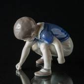 Dickie, Boy squatting picking up something, Bing & Grondahl figurine no. 16...