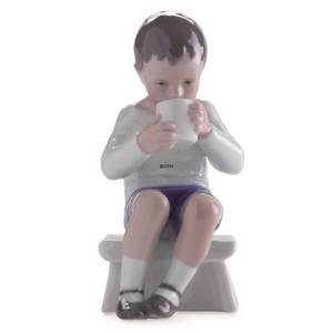 Victor, boy drinking a nice glass of milk, Bing & Grondahl figurine no. 171...