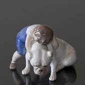 Unconditional Love - Two Friends, Boy with Bulldog, Bing & grondahl figurin...