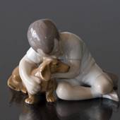 Boy with Dog, True Friendship, Bing & grondahl figurine no. 1951