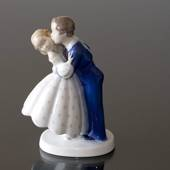 Youthful Boldness, Boy stealing a kiss from Girl, Bing & Grondahl figurine ...