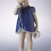 Spilt Milk, Girl standing with spilt Milk, Bing & grondahl figurine no. 224...