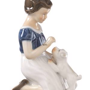 Girl with puppy, Bing & Grondahl figurine no. 2316