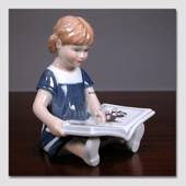 Else Reading, Girl sitting with book, figurine