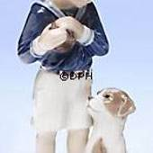 Jens with dog, Royal Copenhagen figurine