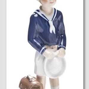 Jens´ first day at school Royal Copenhagen figurine