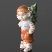 Pixie with Christmas Tree, Royal Copenhagen figurine