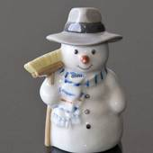 Snowman Father with Broom, Royal Copenhagen winter series figurine