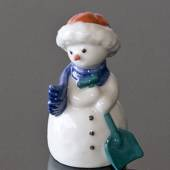 Snowman Mother with Shovel, Royal Copenhagen winter figurine