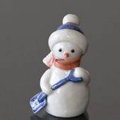 Snowman Boy with Shovel, Royal Copenhagen winter series figurine