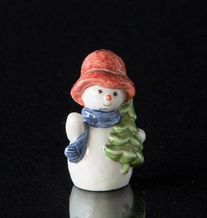 Snowman Girl with Christmas Tree, Royal Copenhagen winter series figurine