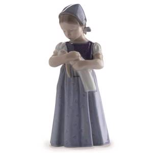 Mary Girl in blue dress, Bing & Grondahl figurine no. 2721