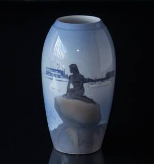 Vase with The Little Mermaid, Royal Copenhagen