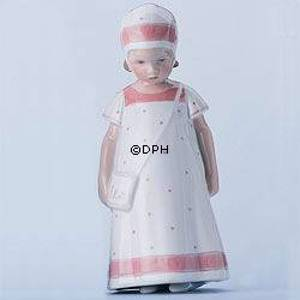 Else Girl with white Dress with light red border, Bing & Grondahl figurine