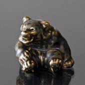 Bear Cub, Royal Copenhagen stoneware figurine no. 22748