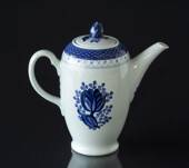 Royal Copenhagen/Aluminia  Tranquebar, blue, Coffee Pot