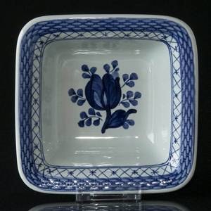Royal Copenhagen/Aluminia Tranquebar, blue, Square Bowl