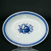 Royal Copenhagen/Aluminia Tranquebar, blue, oval bowl (length 29.5cm)