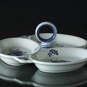 Royal Copenhagen/Aluminia Tranquebar, blue, Dish in three parts with handle