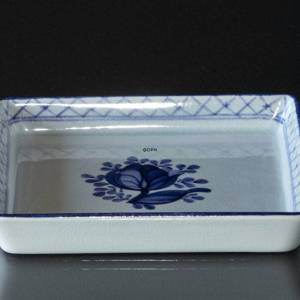 Royal Copenhagen/Aluminia Tranquebar, blue, Square pickle dish | No. 11-1791 | DPH Trading