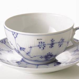 Blue Fluted, Plain, Breakfast Cup, Royal Copenhagen
