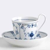 Blue Fluted, Plain, Tea Cup with high handle, capacity 24 cl., Royal Copenh...