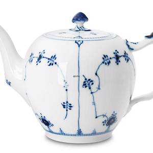 Blue Fluted, Plain, Tea Pot, capacity 100 cl., Royal Copenhagen | No. 1101141 | Alt. 1-259 | DPH Trading
