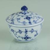 Blue Fluted, Plain, Sugar Bowl, capacity 15 cl., Royal Copenhagen