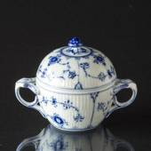 Blue Fluted, Plain, Sugar Bowl, Royal Copenhagen