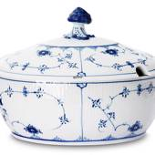 Blue Fluted, Plain, Soup tureen with Cover, capacity 200 cl., Royal Copenha...