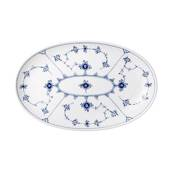Blue Fluted, Plain, oval pickle dish 23cm
