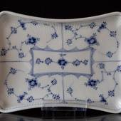 Blue Fluted Plain Tray, Royal Copenhagen 24cm