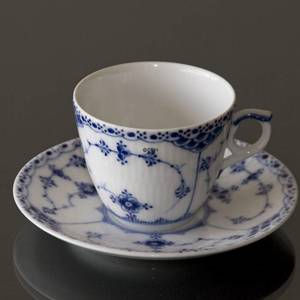 Blue Fluted, Half Lace, small Coffeee Cup and saucer, Royal Copenhagen | No. 1102068 | Alt. 1-719 | DPH Trading