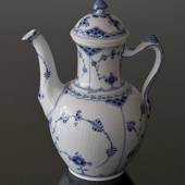 Blue Fluted, Half Lace, Coffeee Pot, capacity 100 cl., Royal Copenhagen