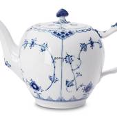 Blue Fluted, Half Lace, teapot, capacity 100 cl., Royal Copenhagen