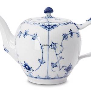 Blue Fluted, Half Lace, teapot, capacity 100 cl., Royal Copenhagen | No. 1102141 | Alt. 1-611 | DPH Trading