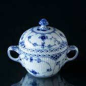 Blue Fluted, Half Lace, Sugar Bowl, Royal Copenhagen