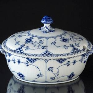 Blue Fluted, Half Lace, Soup Tereen with Cover, capacity 200 cl., Royal Copenhagen | No. 1102181 | Alt. 1-595 | DPH Trading