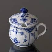 Blue Fluted, Half Lace, Mustard Pot, Royal Copenhagen